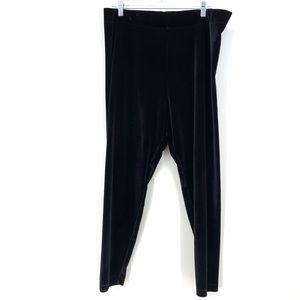 Lou & Grey Sz XXL Velour Leggings Black Pull On